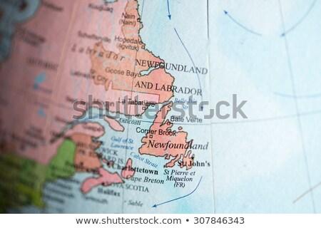 地図 ニューファンドランド島 ラブラドル カナダ 孤立した 実例 ストックフォト © rbiedermann