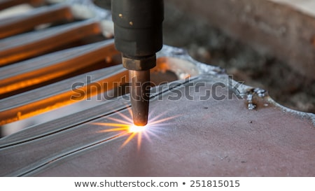 gas cutting on steel plate Stock photo © mady70