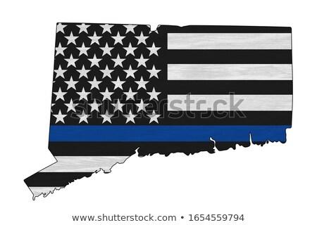 Foto stock: Connecticut · EUA · Estados · Unidos · américa · bandeira · mapa