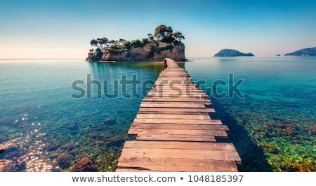 widok · z · lotu · ptaka · wyspa · turkus · wody · cichy · romantyczny - zdjęcia stock © maxmitzu