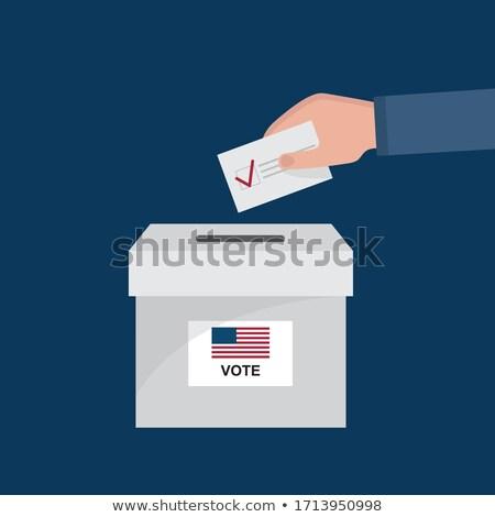 Elezioni finestra illustrazione sorriso verificare Foto d'archivio © adrenalina