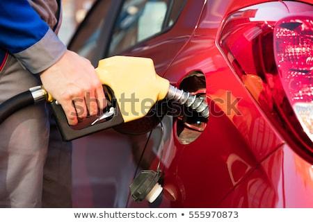 Autó megtankol benzinkút közelkép közelkép üzlet Stock fotó © vlad_star