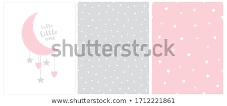 Foto stock: Delicate Baby Girl Shower Card