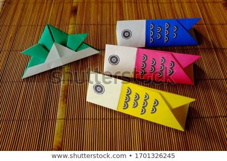 carp streamers origami stock photo © sahua