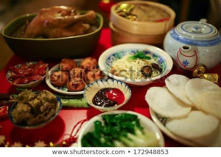 Different kinds of food and snack Stock photo © bluering