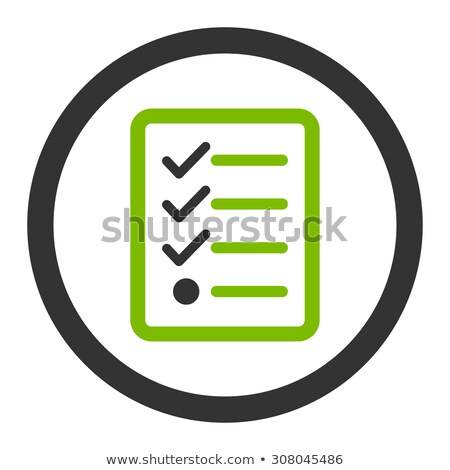 Checklist flat eco green and gray colors rounded glyph icon stock photo © ahasoft