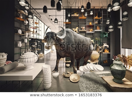 A bull in a China shop Stock photo © bluering