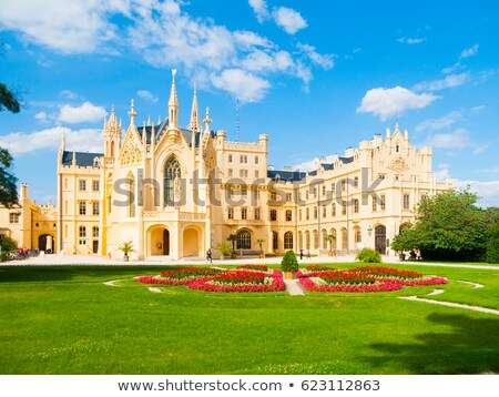 garden of lednice palace czech republic stock photo © phbcz