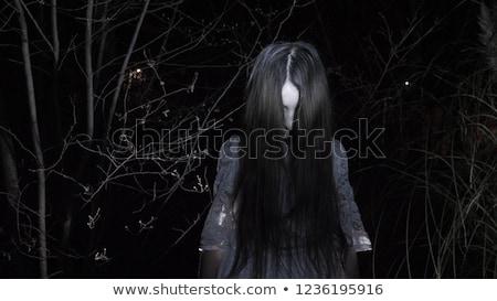 ijesztő · zombi · lány · portré · bámul · véres - stock fotó © BigKnell