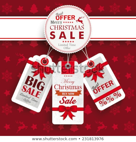 Christmas discount, sale. EPS 10 stock photo © beholdereye