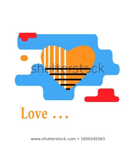 Liefde sjabloon hart symbool romantische ontwerp Stockfoto © MaryValery