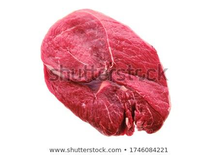 vitela · servido · prato · faca · garfo · comida - foto stock © m-studio