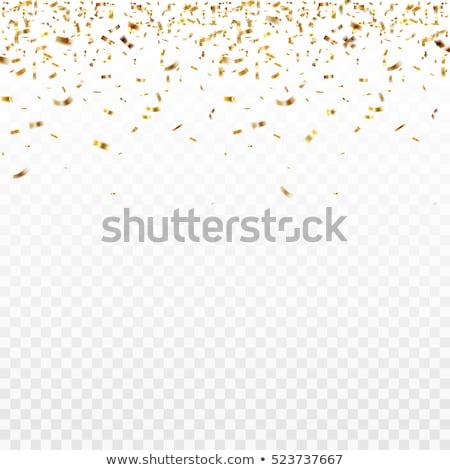Gold confetti falling. EPS 10 Stock photo © beholdereye