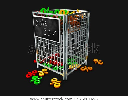 Store promotion display basket with procents Stock photo © tussik