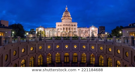Star of Texas with the State Capitol Building at Night Stock photo © BrandonSeidel