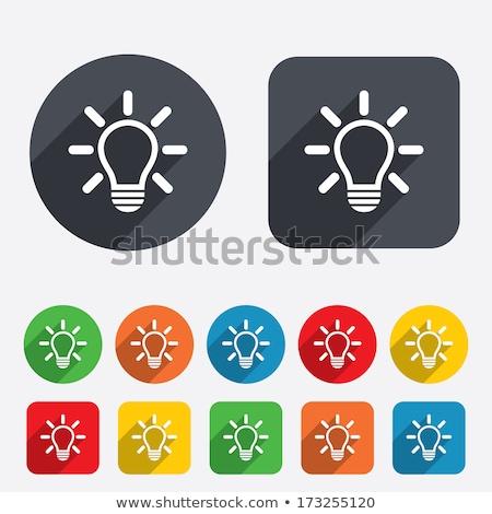 gloeilamp · icon · idee · lamp - stockfoto © noedelhap