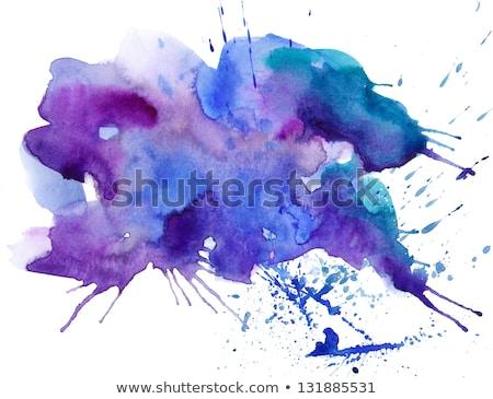 Rood splatter inkt drop effect textuur Stockfoto © SArts