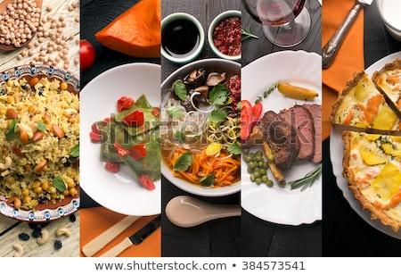 Diferente pratos italiano menu ilustração fundo Foto stock © bluering