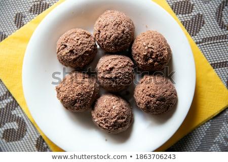 Yemek zencefilli çörek parçalar tatlı çanak Stok fotoğraf © Digifoodstock