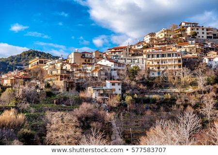 Köy bölge Kıbrıs doğa manzara dağ Stok fotoğraf © Kirill_M