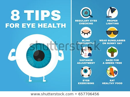 healthy eyes concept illustration design isolated Stock photo © alexmillos