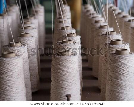 白 スレッド リール 針 綿 裁縫 ストックフォト © Aleksangel