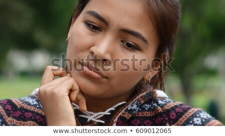 Sad Peruvian Teen Girl Stock photo © dtiberio