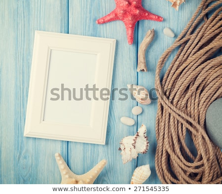 Summer time sea vacation with white blank with copy space, star  Stock photo © Yatsenko