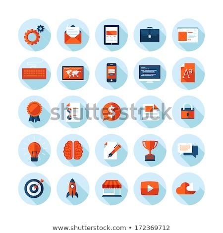 terv · ikonok · felhasználó · interfész · telefon · földgömb - stock fotó © wad