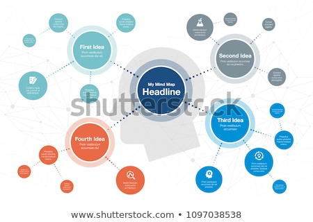 Mind Map Icon. Business Concept. Flat Design. Stock photo © WaD