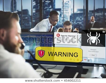Hacker finansowych ostrzeżenie ilustracja projektu odizolowany Zdjęcia stock © alexmillos