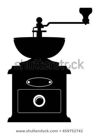 Kahve değirmen eski Retro bağbozumu ikon Stok fotoğraf © konturvid
