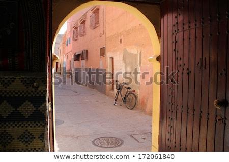 Straat foto vorm stad leven roze Stockfoto © johnnychaos