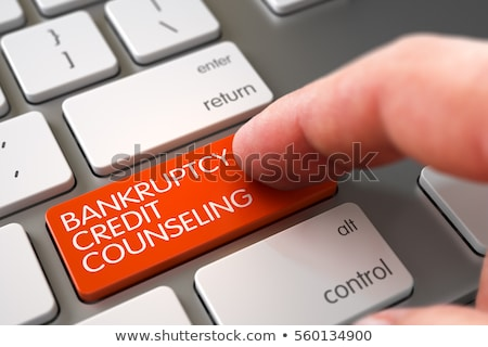 bankruptcy counseling services closeup of keyboard 3d illustration stock photo © tashatuvango