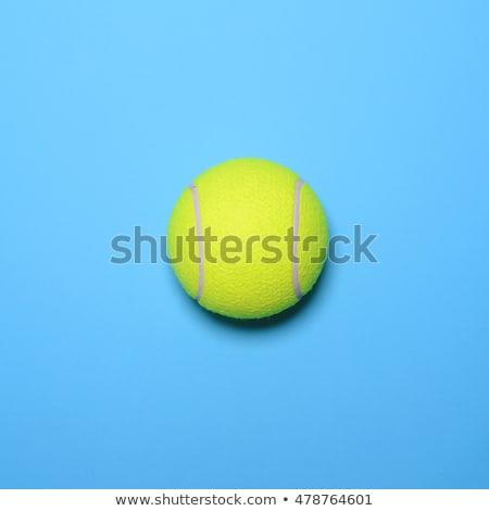 Stock fotó: Overhead View Of Tennis Ball