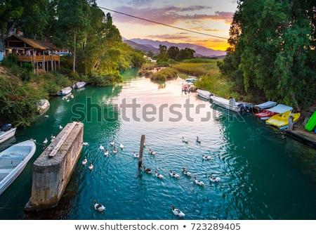 The beautiful Lake Kournas in Chania Crete . Greece Stock photo © Freesurf