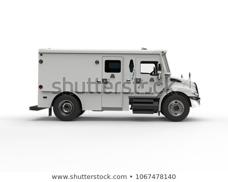 Stock photo: bank armored truck