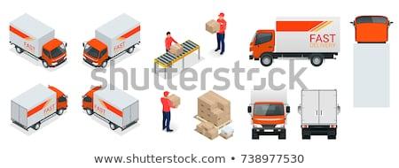 изометрический · грузовик · задний · 3D · вектора - Сток-фото © Genestro