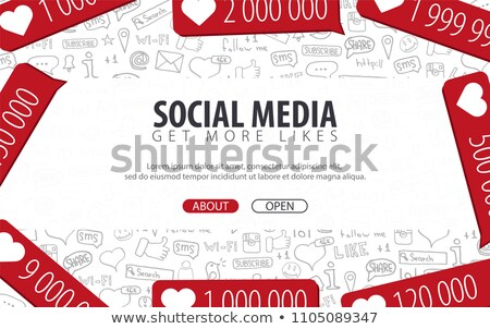 get more likes social media concept with business doodle design stock photo © davidarts