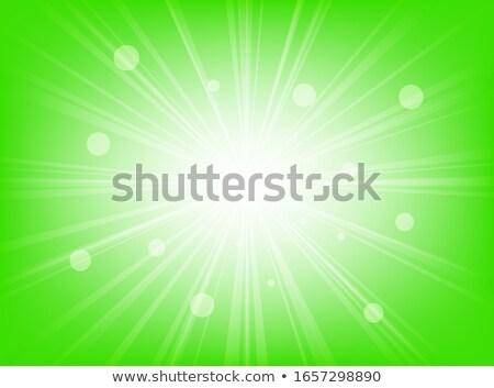 Сток-фото: зеленый · плакат · градиент · солнце