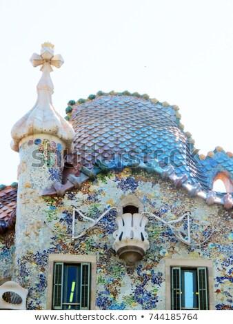 detail of the ceramics from the casa batllo in barcelona spain architect antonio gaudi stock photo © joannawnuk