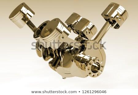 Automotivo fabrico dourado metálico roda dentada engrenagens Foto stock © tashatuvango