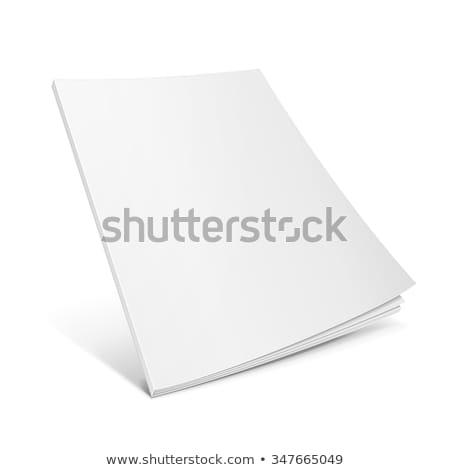 3D książki okładka odizolowany biały pracy Zdjęcia stock © m_pavlov
