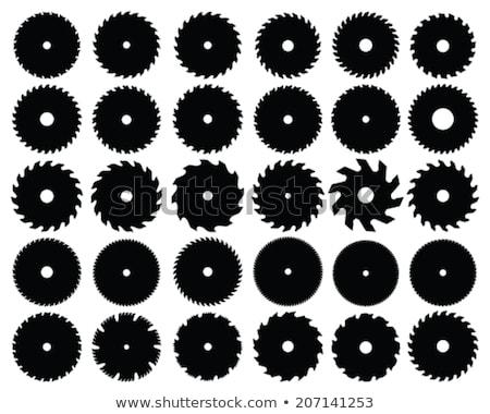 Serra preto silhuetas diferente construção Foto stock © ratkom