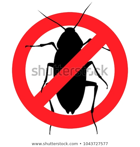 cockroaches and stop cockroach sign symbols vector design stock photo © hermione