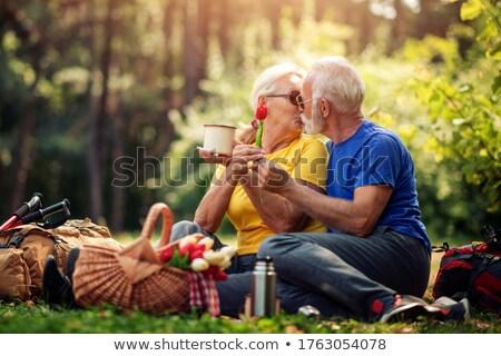 Senior couple kissing Stock photo © IS2