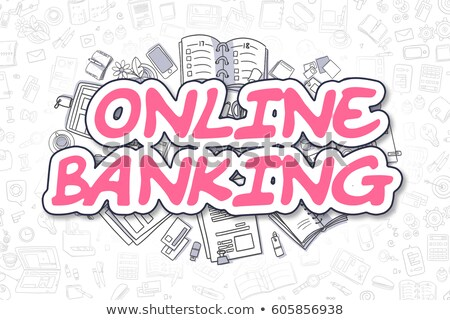 Stockfoto: Banking Services - Cartoon Magenta Word Business Concept