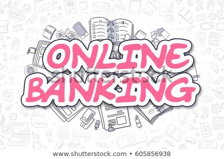bancario · servicio · frente · vista · alcancía - foto stock © tashatuvango