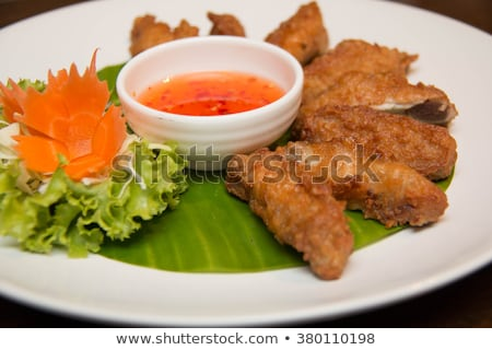 Picante thai frango asas pão grelhado Foto stock © Digifoodstock