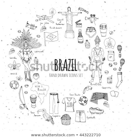 Objetivos 2016 garabato diseno iconos Foto stock © tashatuvango